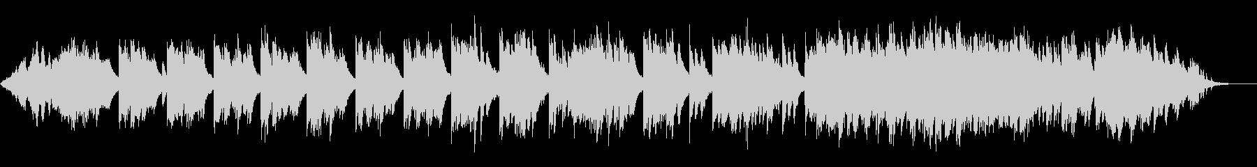 静かな躍動感のピアノ曲の未再生の波形