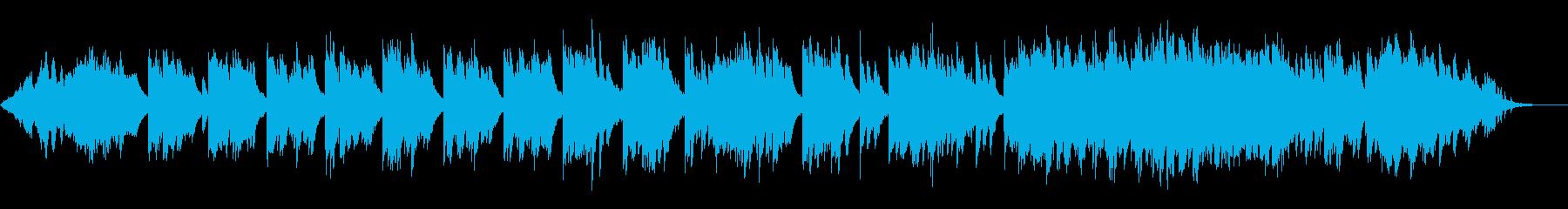 静かな躍動感のピアノ曲の再生済みの波形