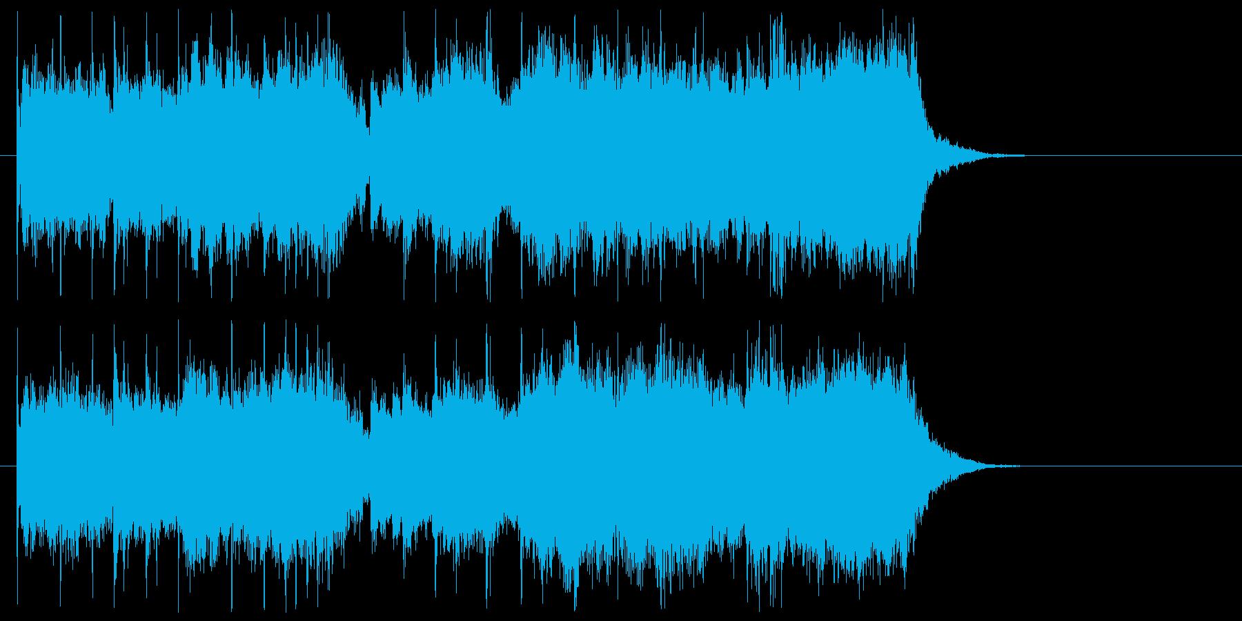 爽やかで疾走感のあるエレキジングルの再生済みの波形