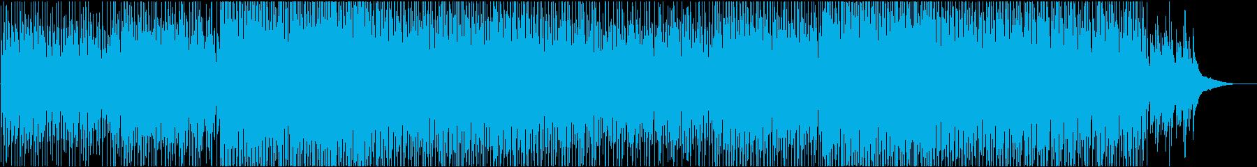 企業VPや映像に 美しいポジティブピアノの再生済みの波形