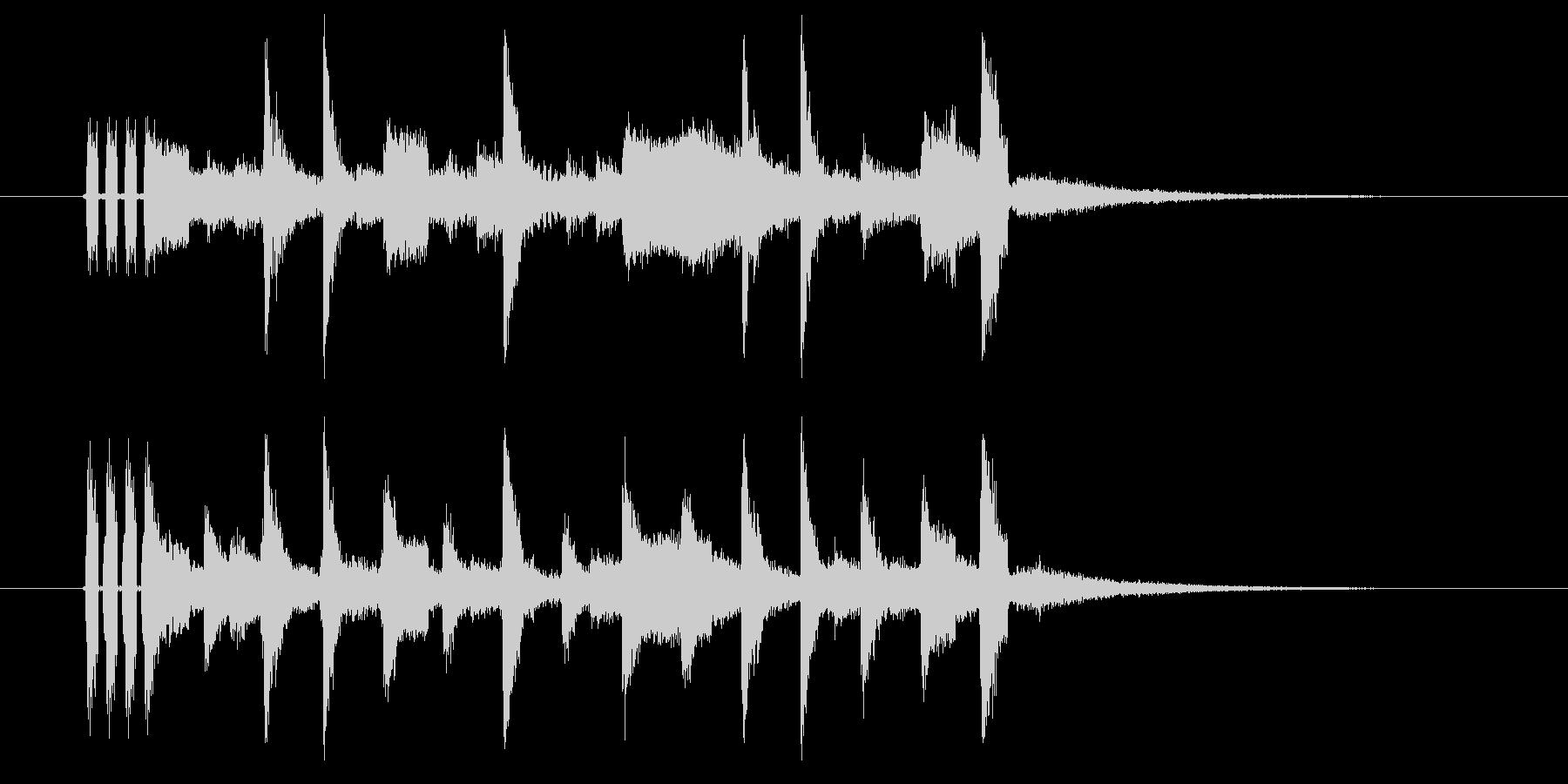 クールなアコギのアルペジオのジングル曲の未再生の波形