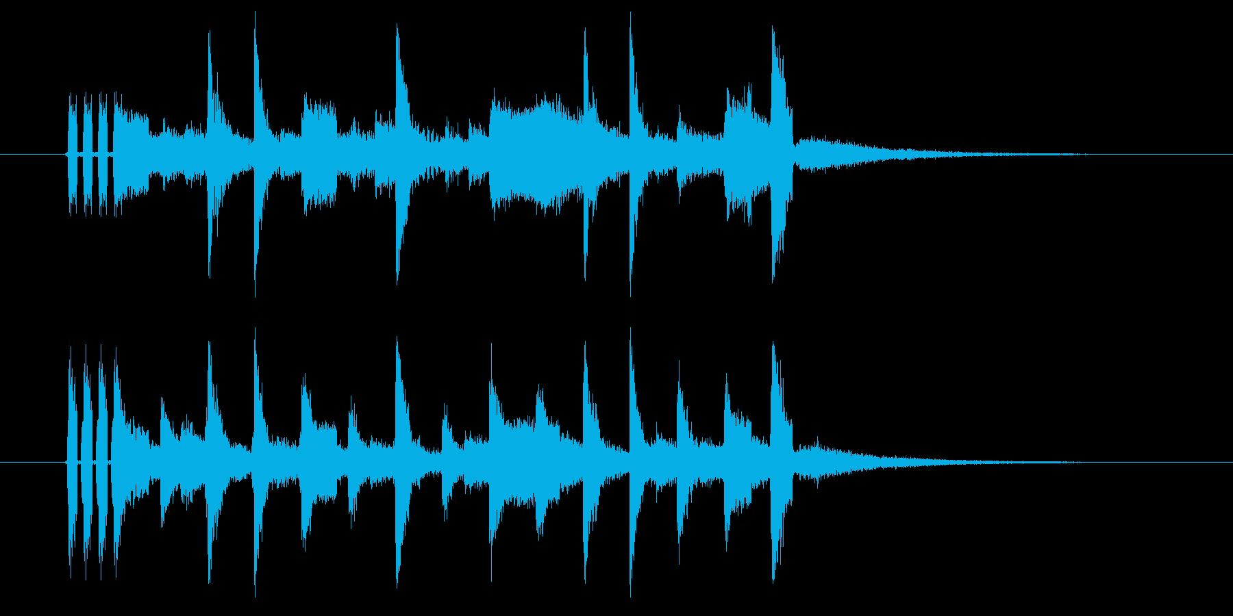 クールなアコギのアルペジオのジングル曲の再生済みの波形