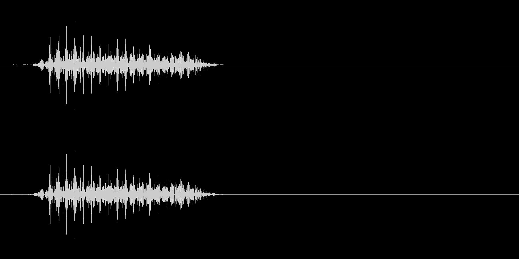モンスターの発声に 8の未再生の波形