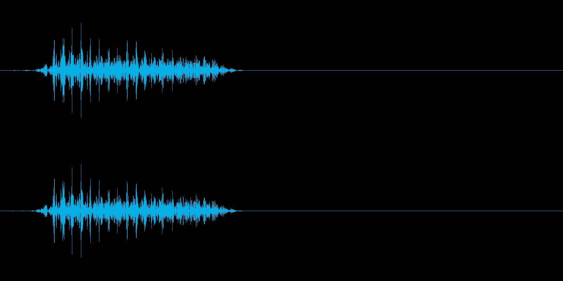 モンスターの発声に 8の再生済みの波形
