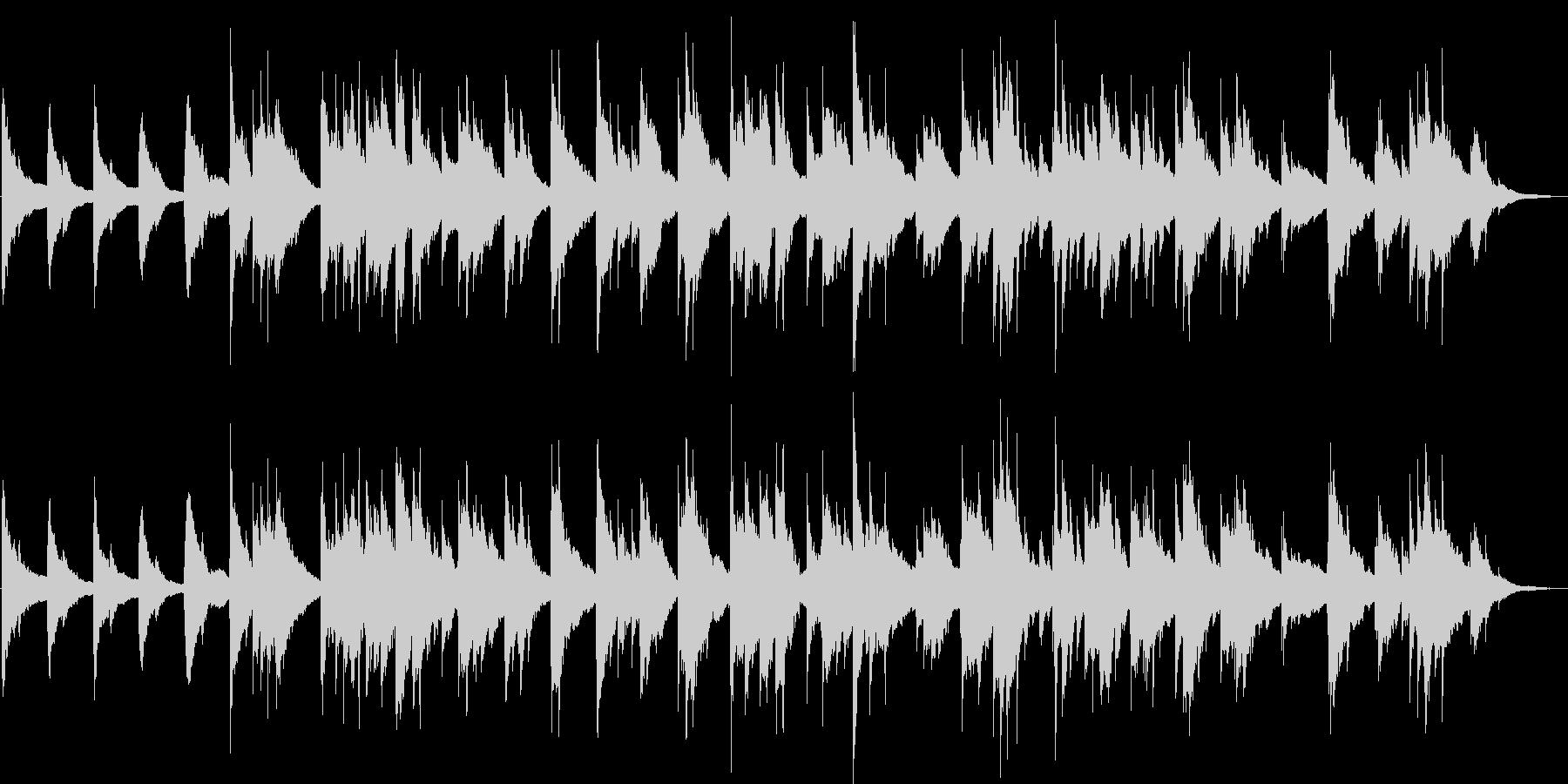 アコースティックギターのバラードの未再生の波形
