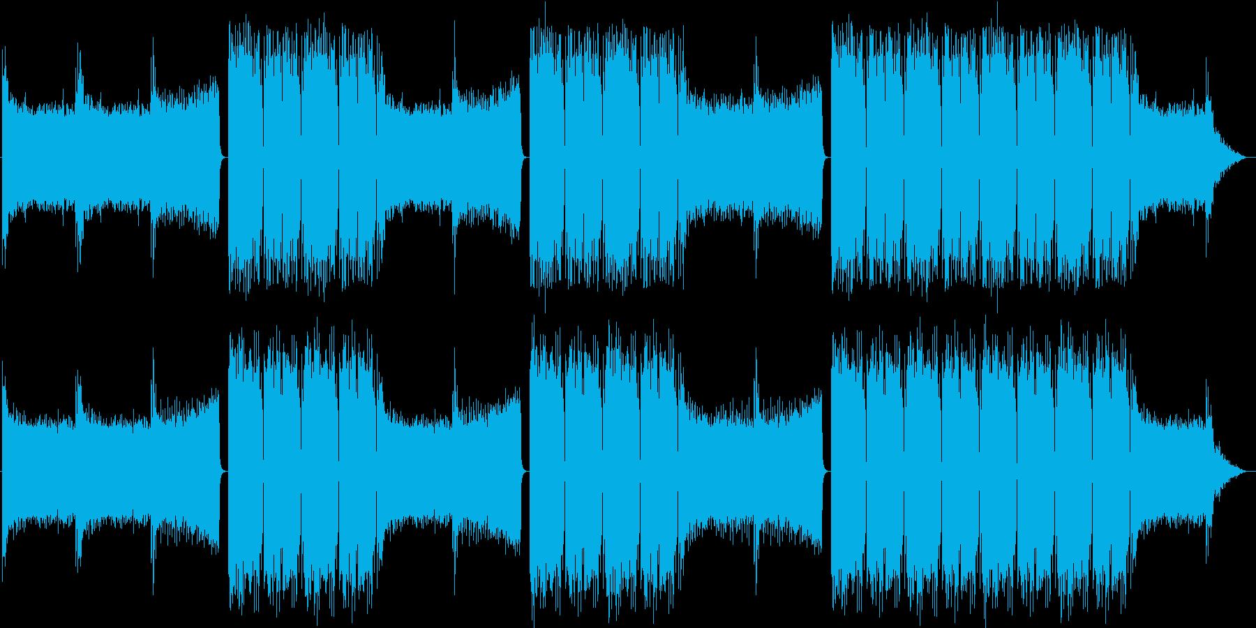 EDMクラブ系ダンスミュージック-08の再生済みの波形