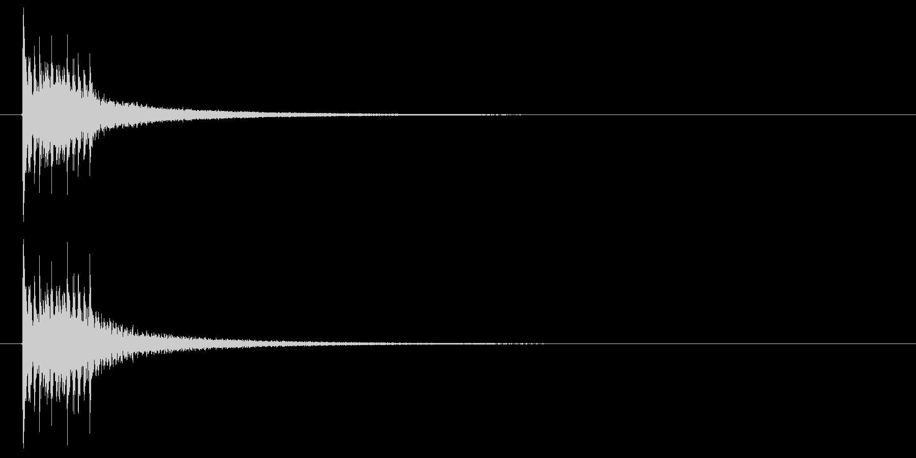 下降する木琴音のSEの未再生の波形