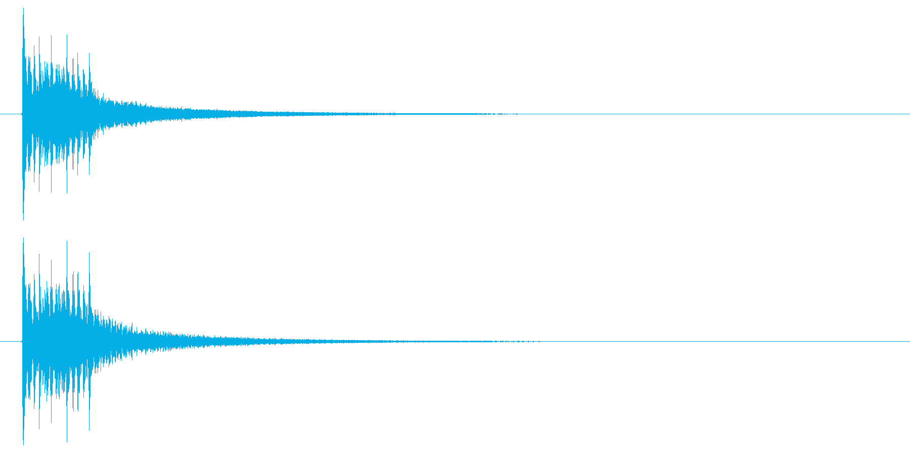 下降する木琴音のSEの再生済みの波形