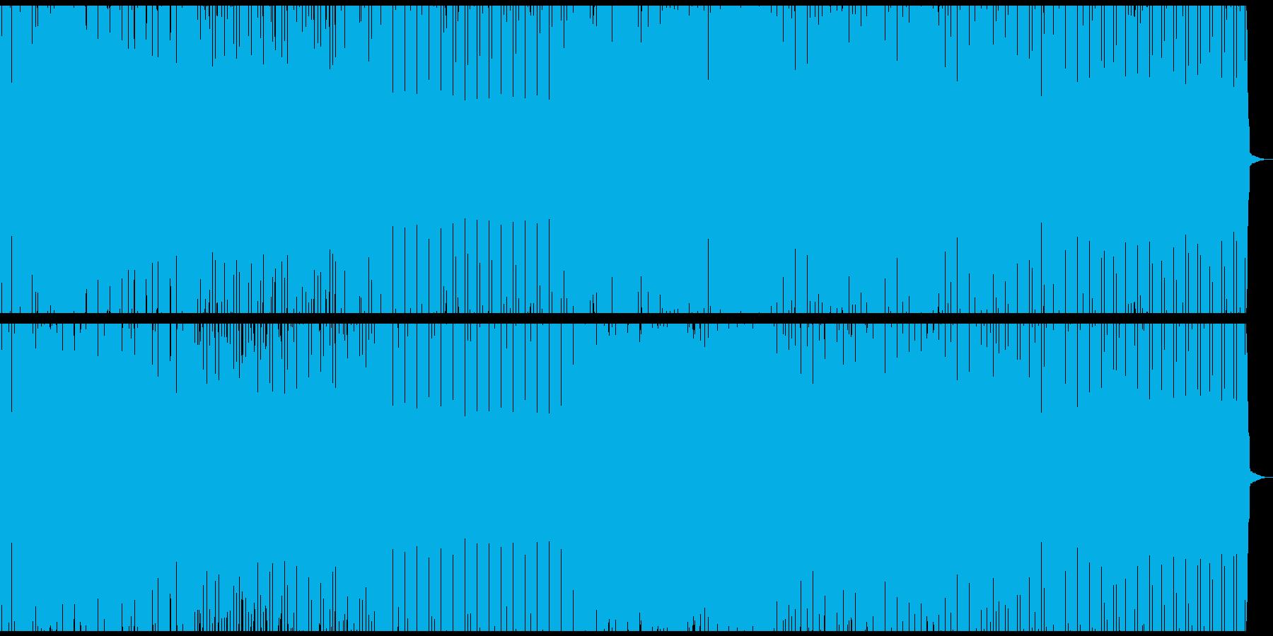 ゲーム音楽風のハウスの再生済みの波形