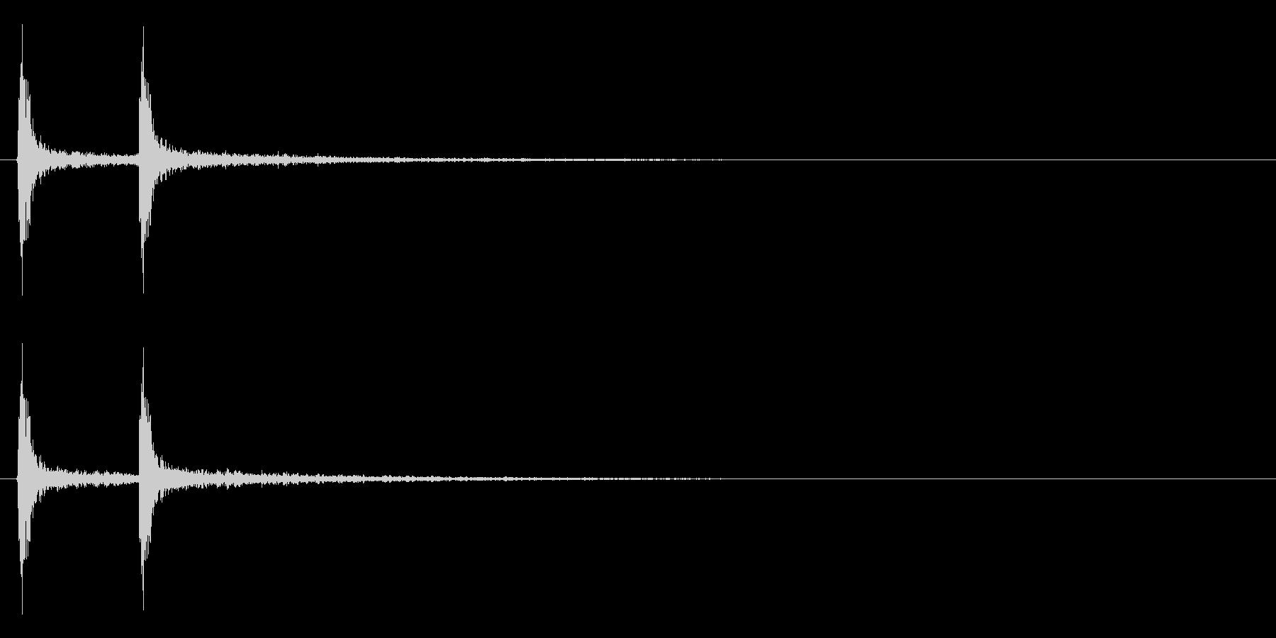 「チャチャッ!」木製シェイカー連打音FXの未再生の波形