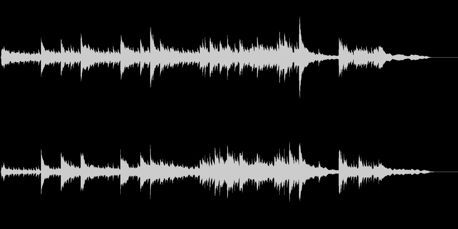 CM、映像向けのピアノソロBGMの未再生の波形