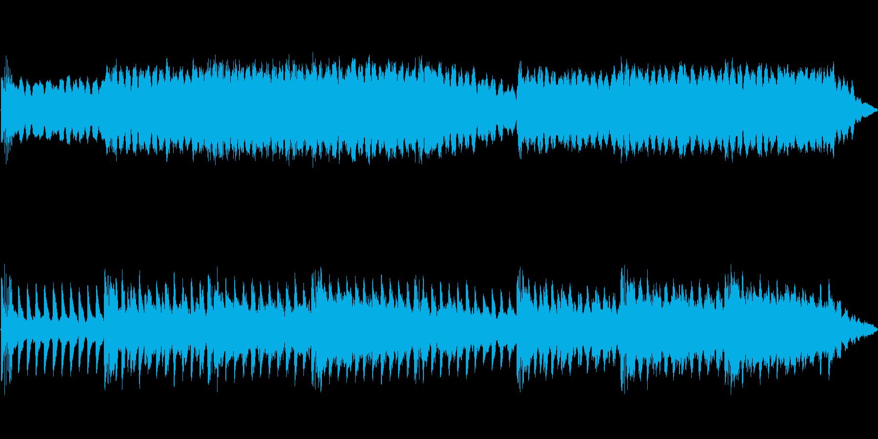 マリンバがポリリズム的に鳴りますの再生済みの波形