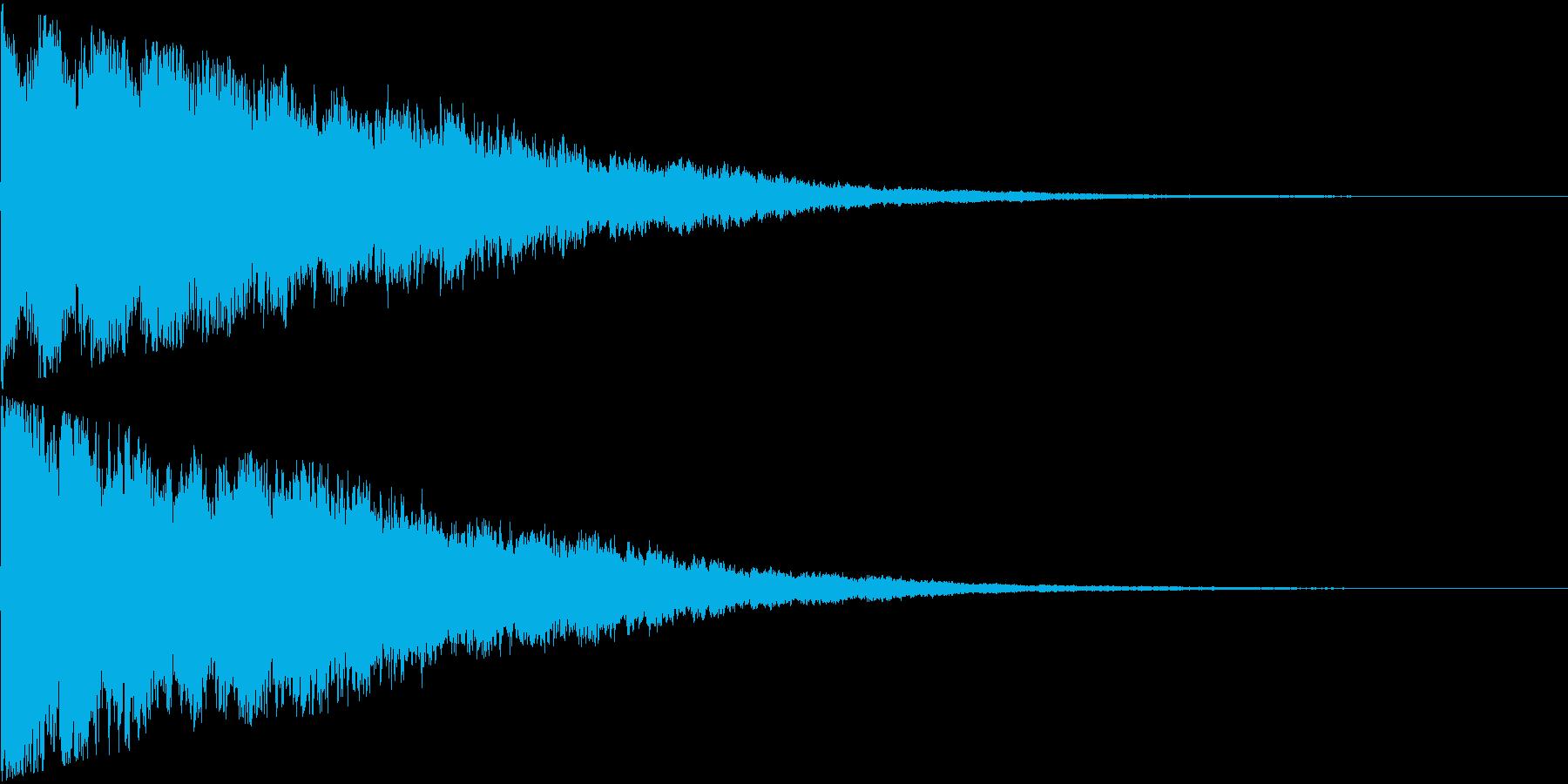 キーン(超音波みたいな電子音)の再生済みの波形