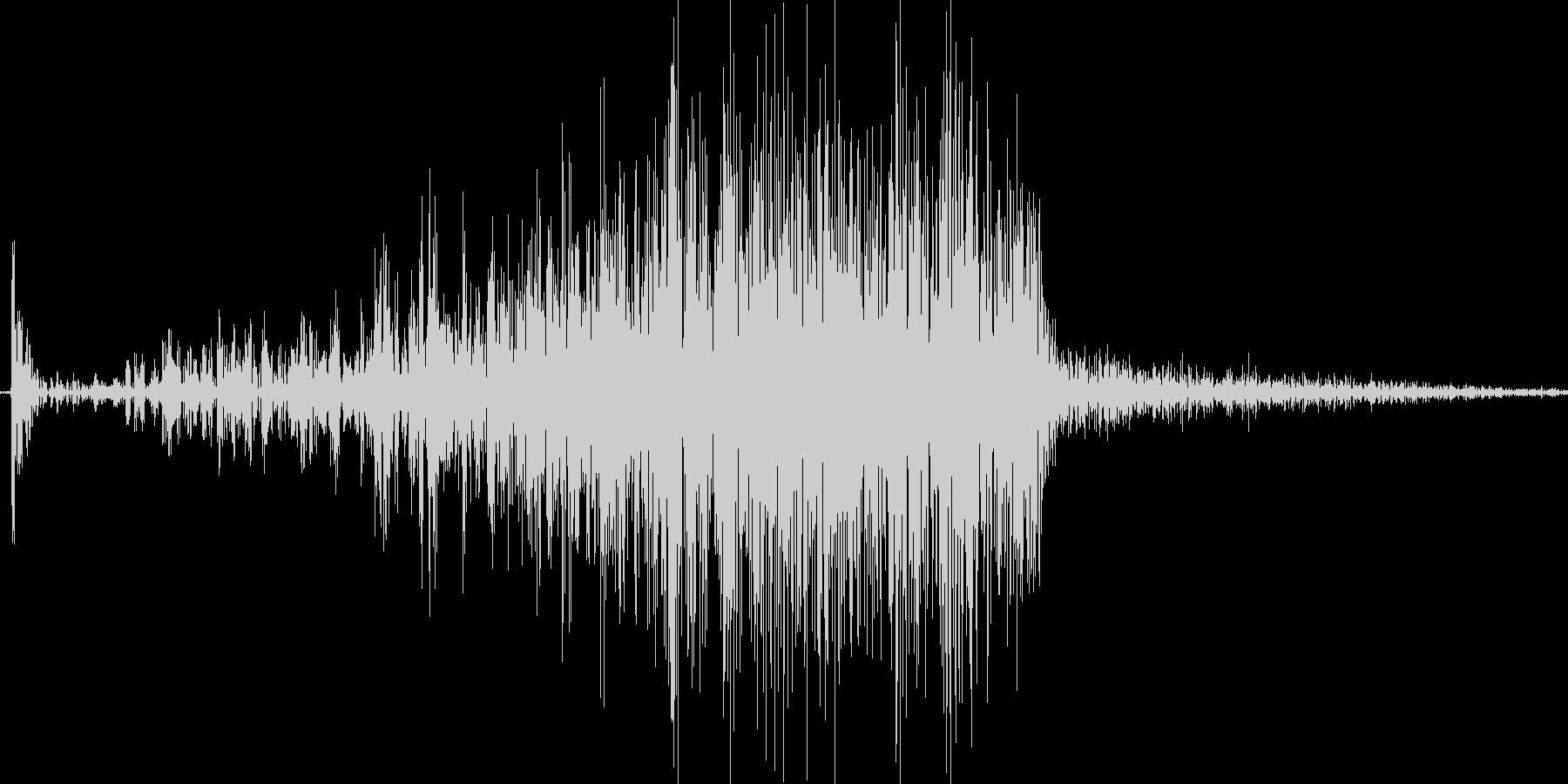 500円玉をこする音の未再生の波形