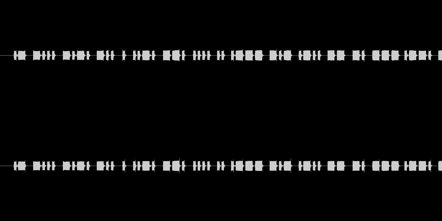 モールス信号の音の未再生の波形