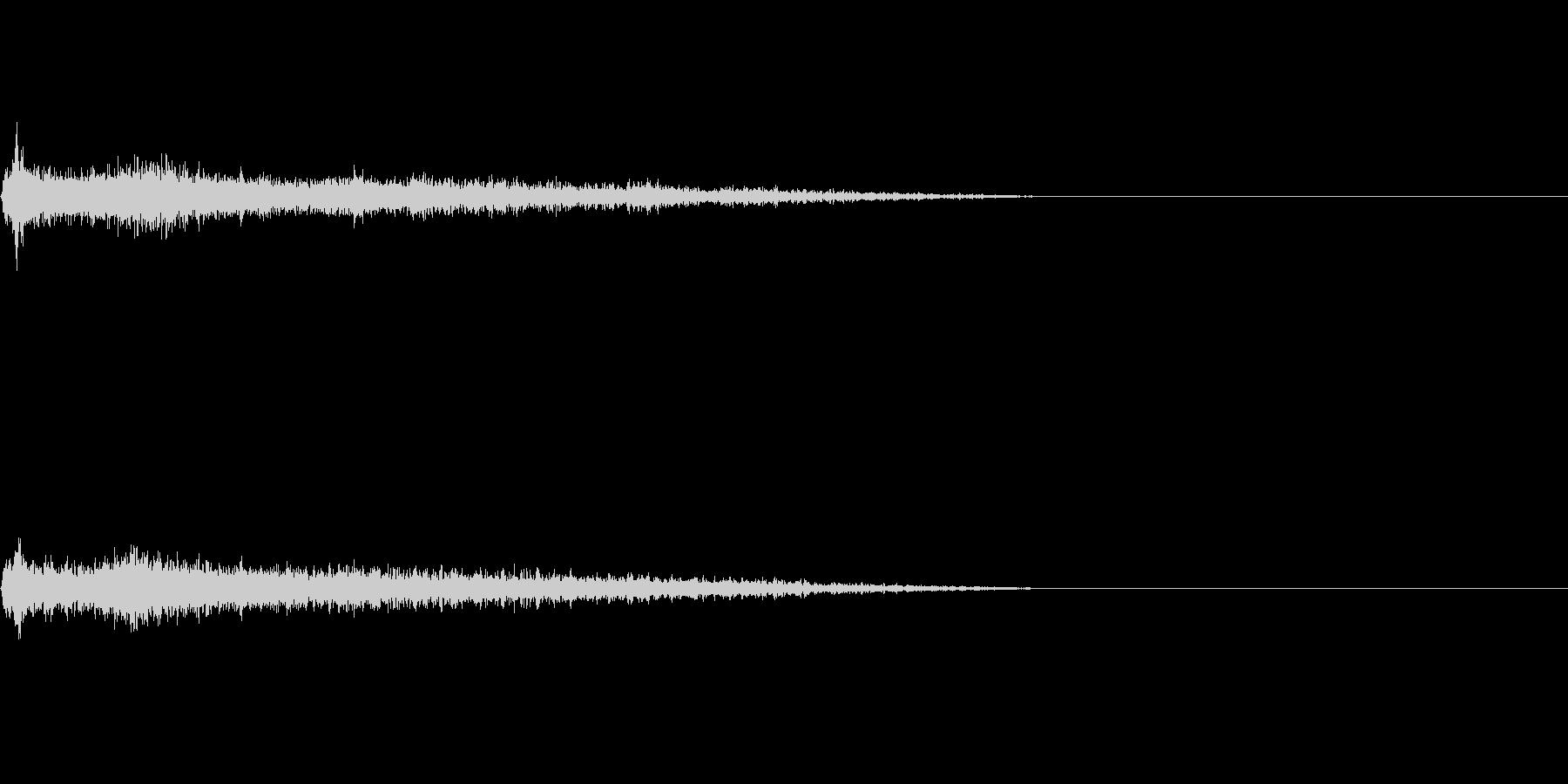 Cメジャー インパクト音 衝撃音の未再生の波形