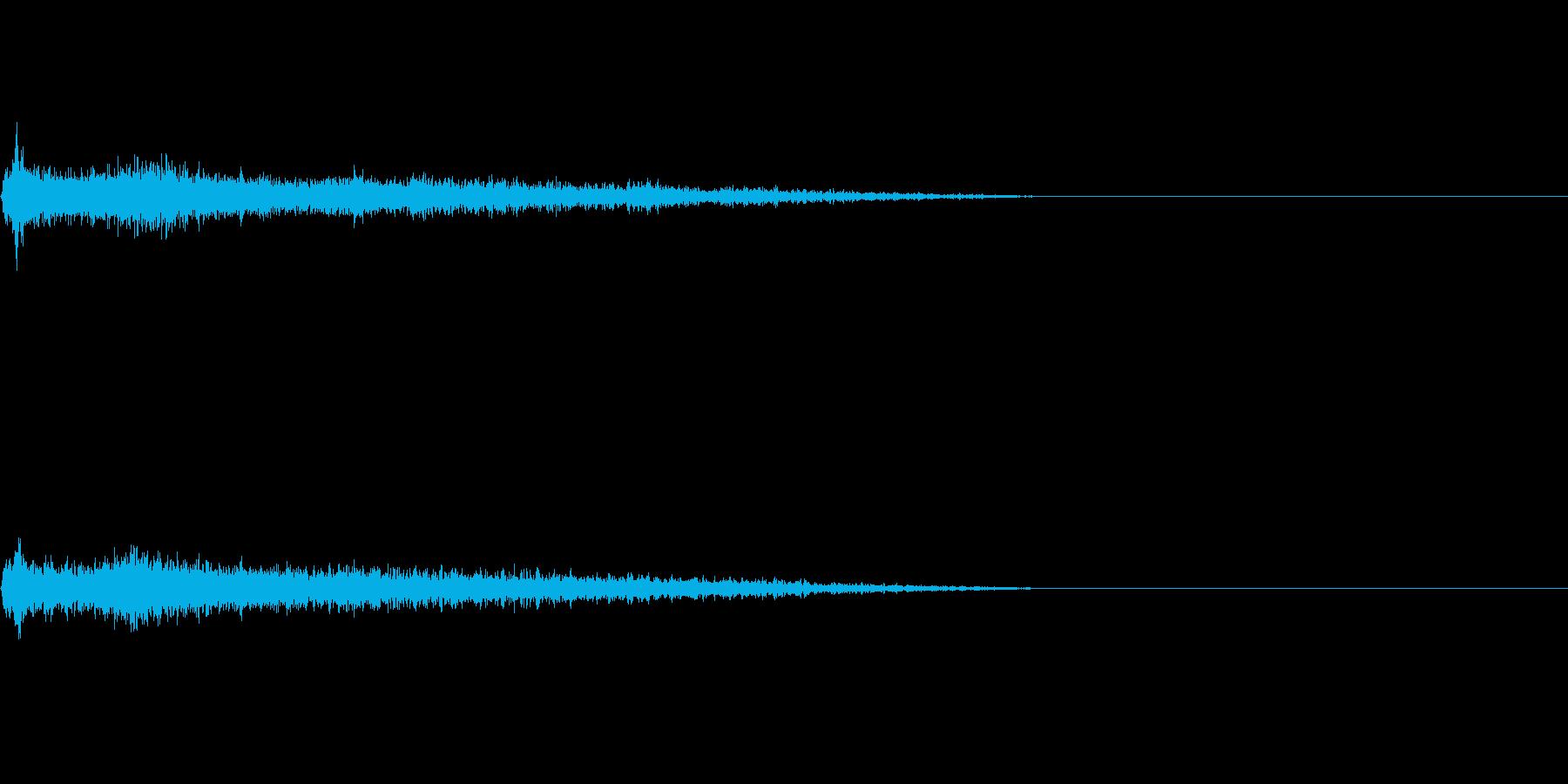 Cメジャー インパクト音 衝撃音の再生済みの波形