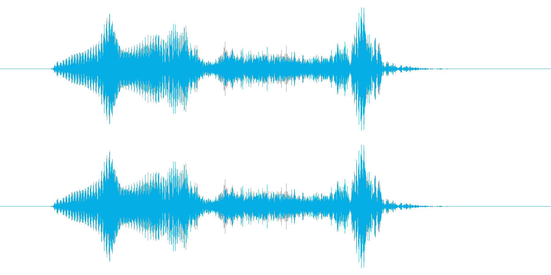 「よいっしょ」の再生済みの波形