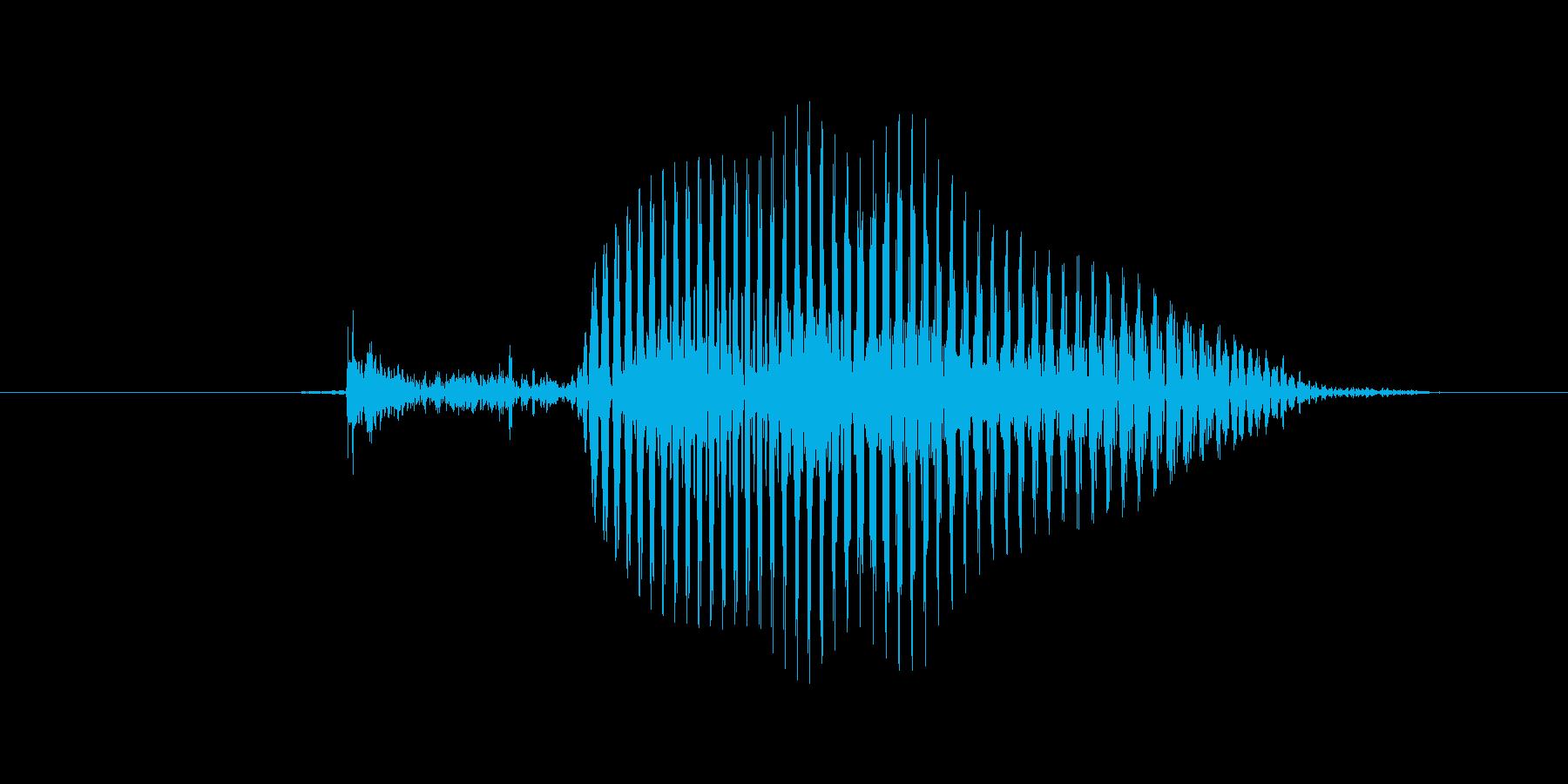 3(trois、フランス語、女性声優)の再生済みの波形