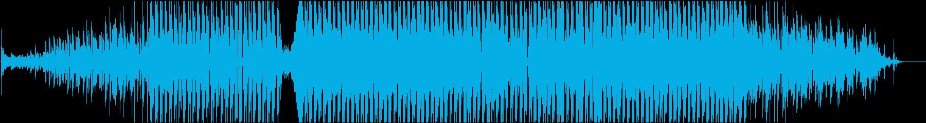 機械的、近未来的なサウンドのBGMです。の再生済みの波形