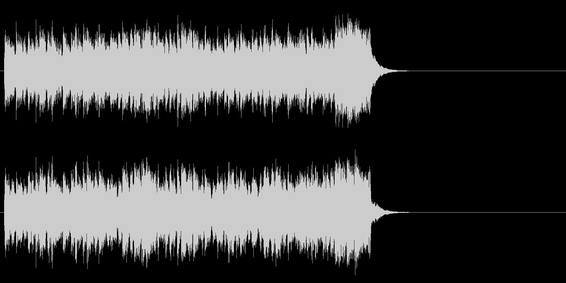 情報向けの軽快なポップス(サビ)の未再生の波形