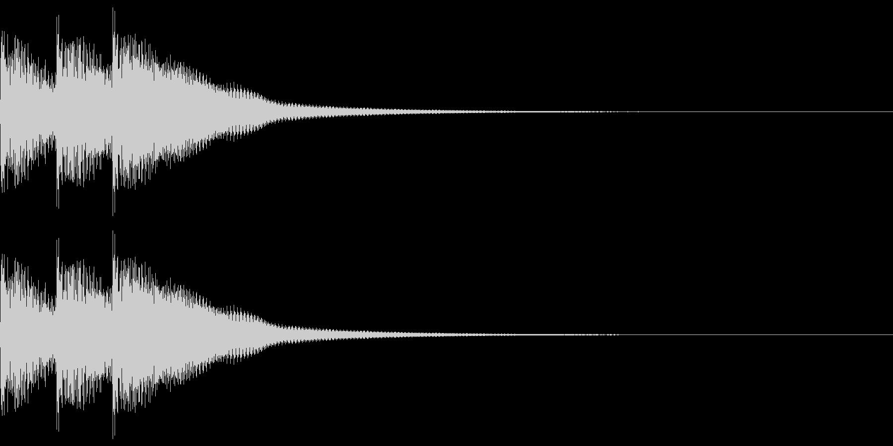 三味線フレーズ01(ドドドン)の未再生の波形