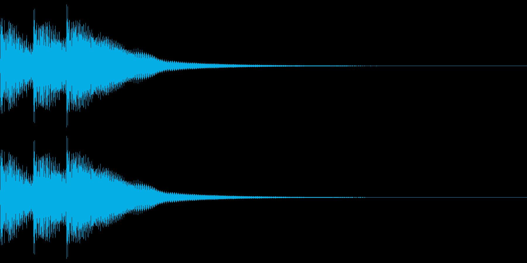 三味線フレーズ01(ドドドン)の再生済みの波形