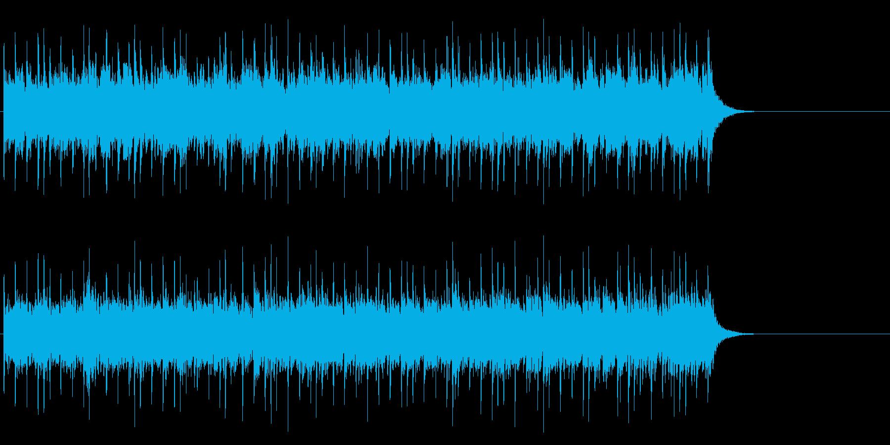軽快なテクノ・ポップ(サビ)の再生済みの波形