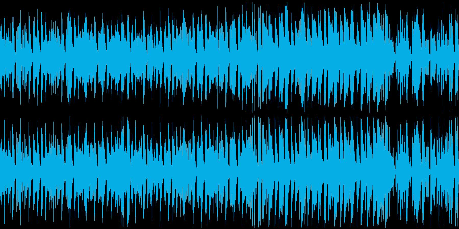 【ループ版】明るく楽しいコミカルな雰囲気の再生済みの波形