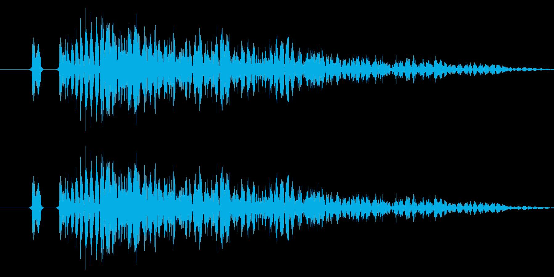 【打撃音05】パンチやキックに最適です!の再生済みの波形