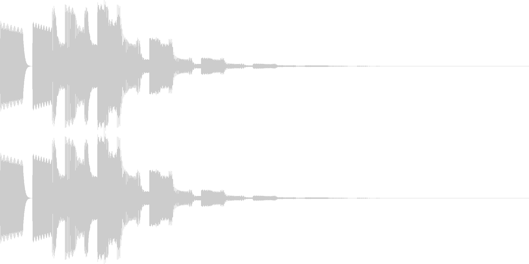 ピコピロン(決定、正解、ゲームスタート)の未再生の波形