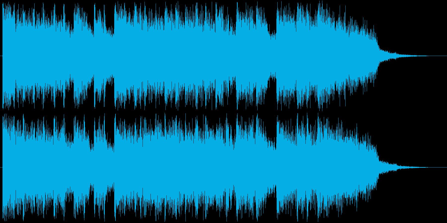 アイドル系アニメのようなROCKジングルの再生済みの波形