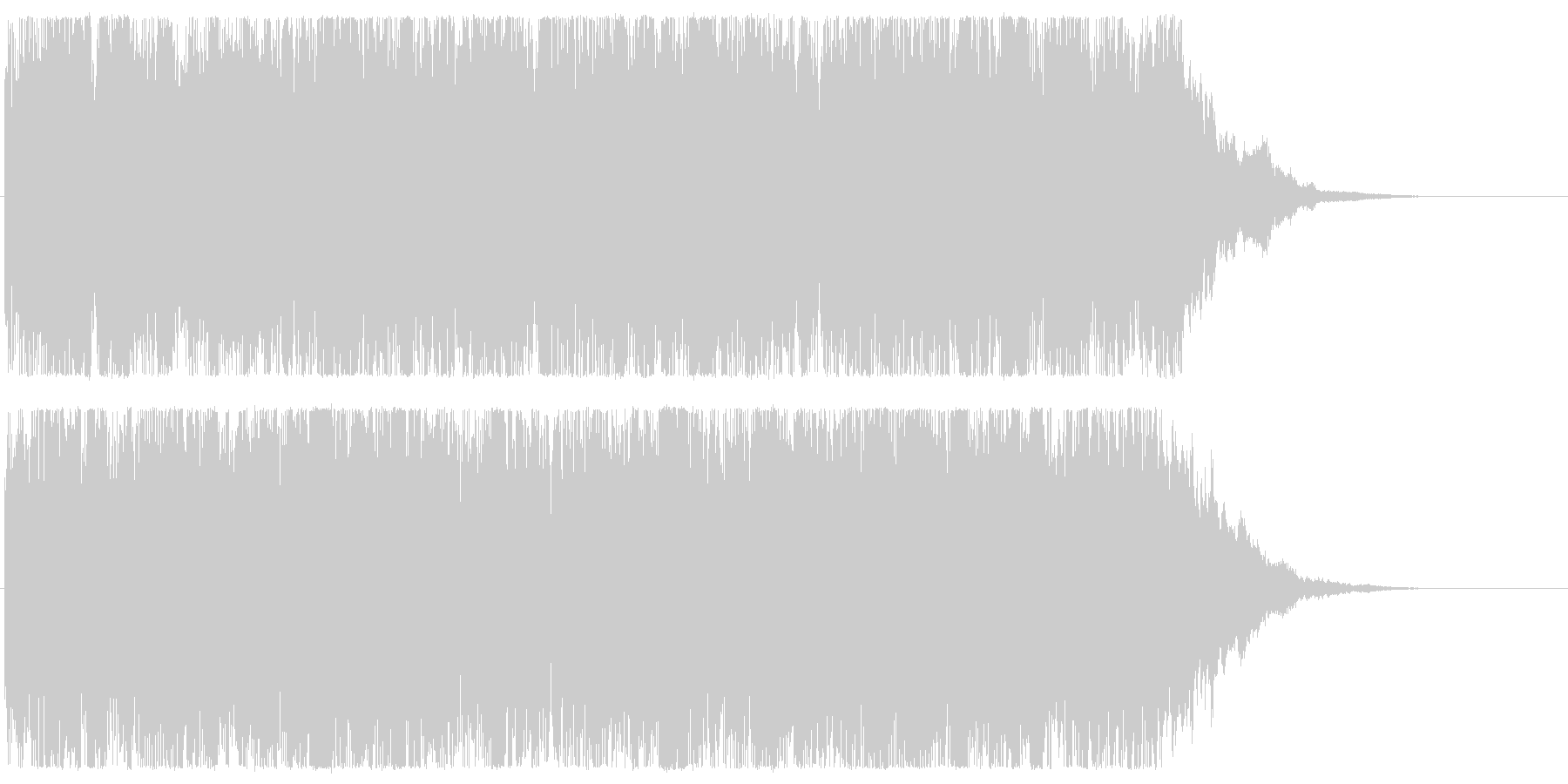 ハロウィン系のミステリアスなオープニングの未再生の波形