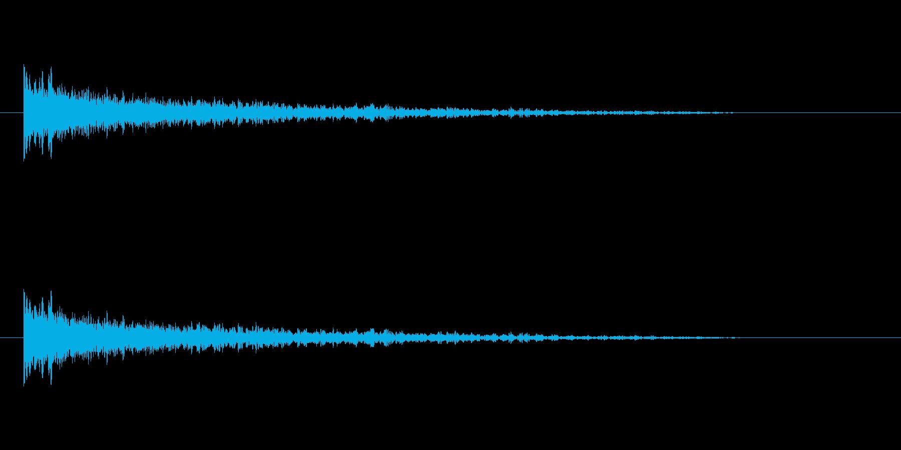 【アクセント20-2】の再生済みの波形