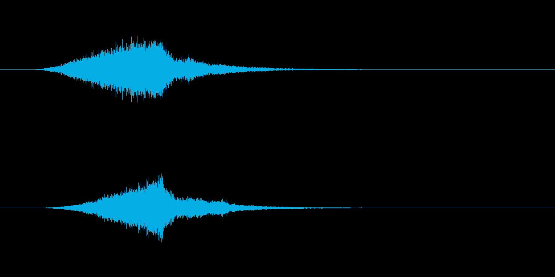 金属を引っ掻いたようなシィーンとなる音の再生済みの波形