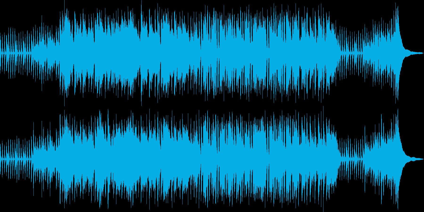 日常系アニメのほのぼのとした明るい楽曲の再生済みの波形