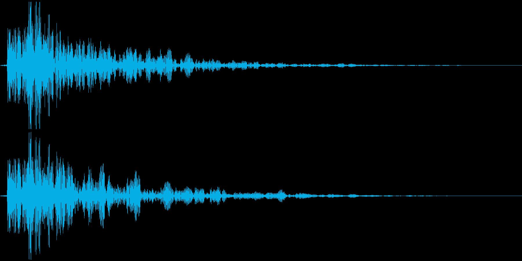 和太鼓でドドンの再生済みの波形