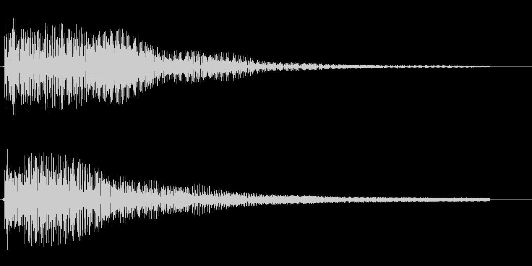 ポワ〜ン(スチールドラム)の未再生の波形