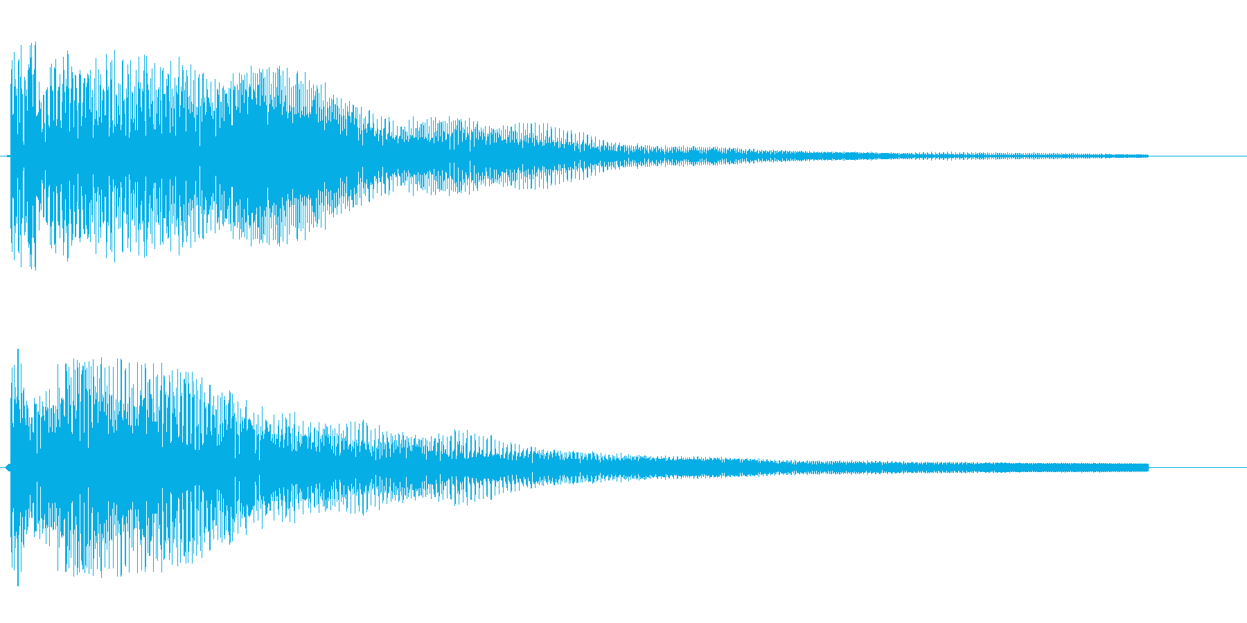 ポワ〜ン(スチールドラム)の再生済みの波形