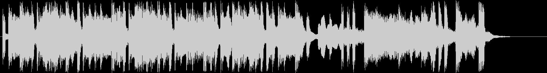 ほのぼのしたシンセサイザー短めジングルの未再生の波形
