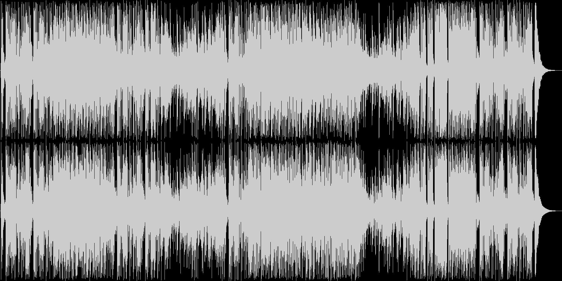 チョイ悪風なジャズテイストな曲の未再生の波形