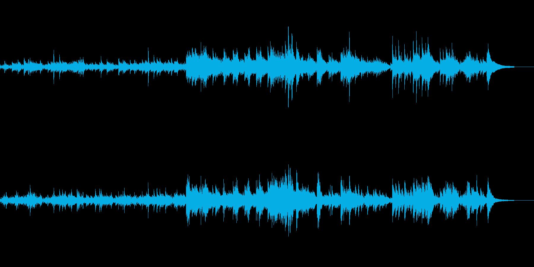 優しいクラシカルなピアノ曲の再生済みの波形