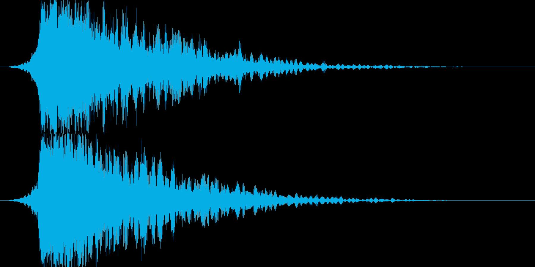 シャキーン(闇や毒などの属性魔法)2の再生済みの波形