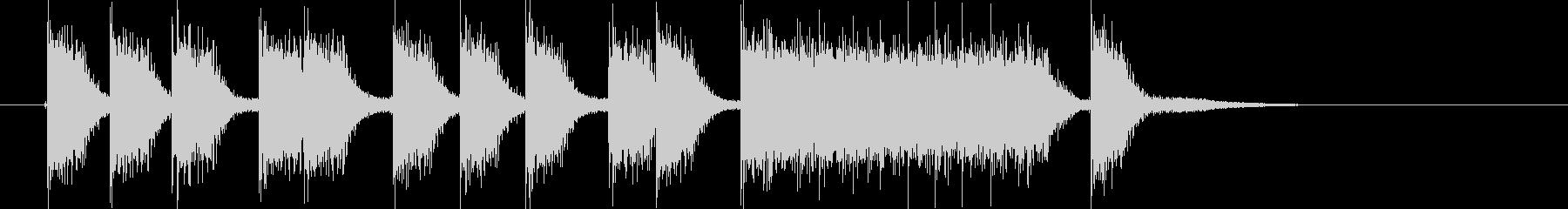 応援する時の音の未再生の波形