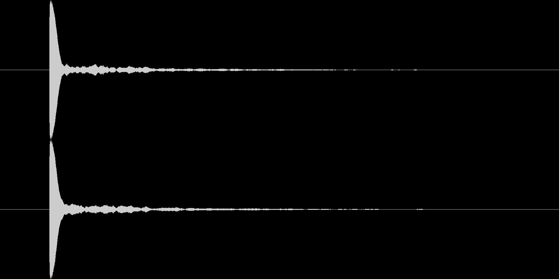 パーン テロップ音 シンプル SEの未再生の波形