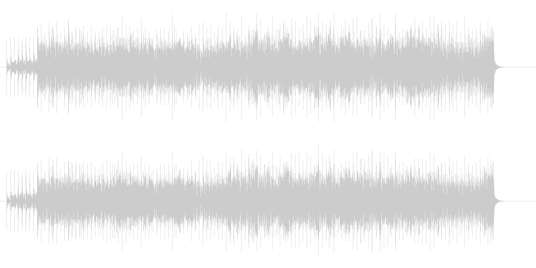 ラテン風味のユーロ・ハウス調の未再生の波形
