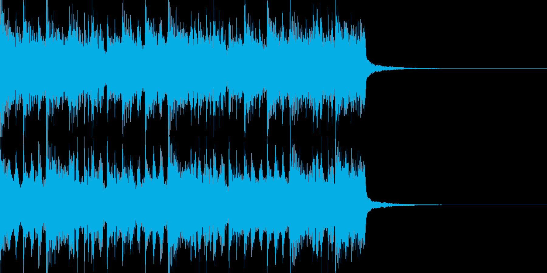 アニメ音楽のような感じの再生済みの波形