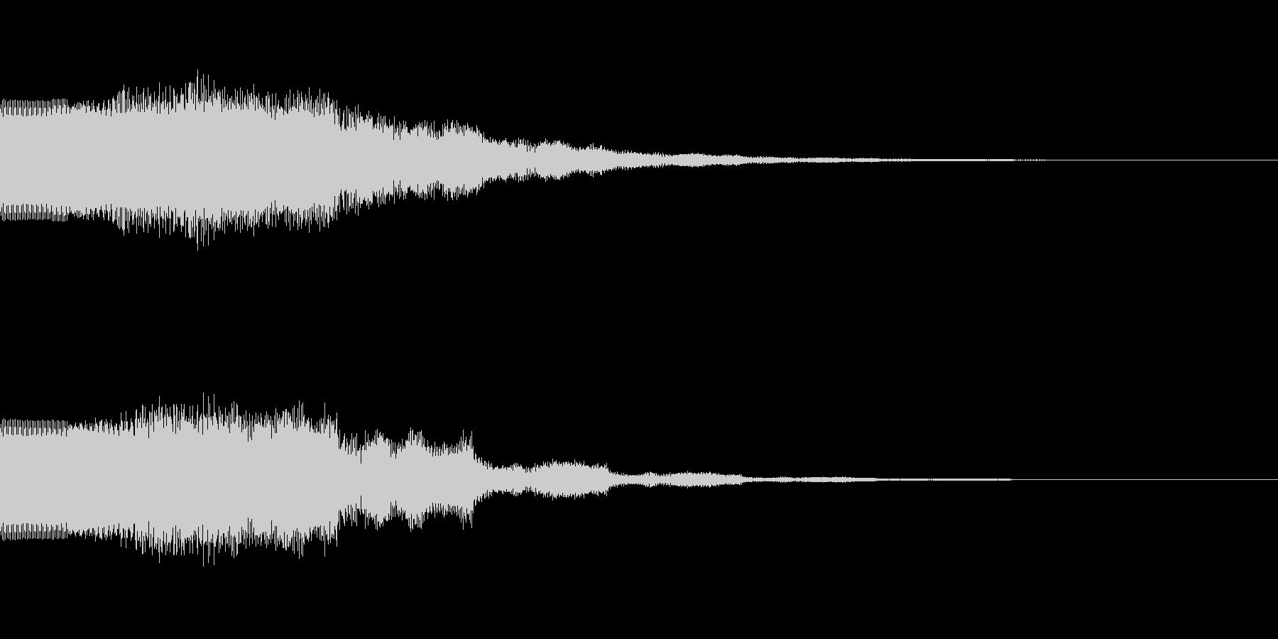 ベーシックなキラキラ音です。の未再生の波形