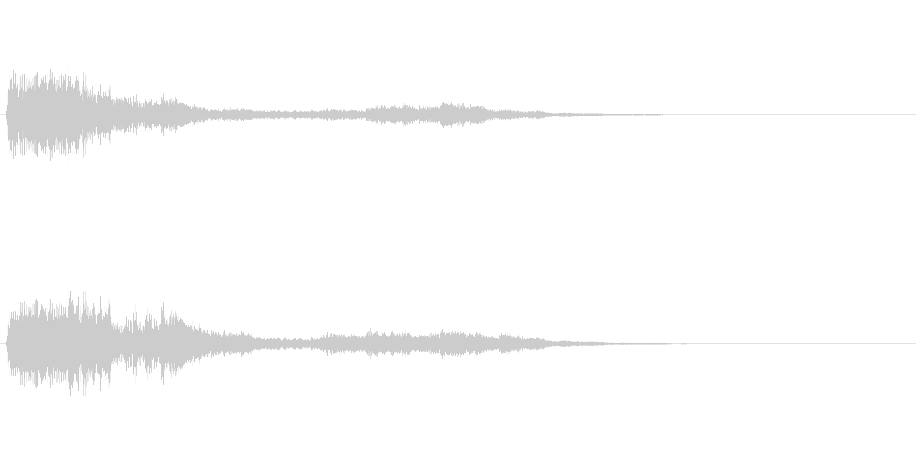 不気味な効果音【ひょおおお/ひゅーん】の未再生の波形
