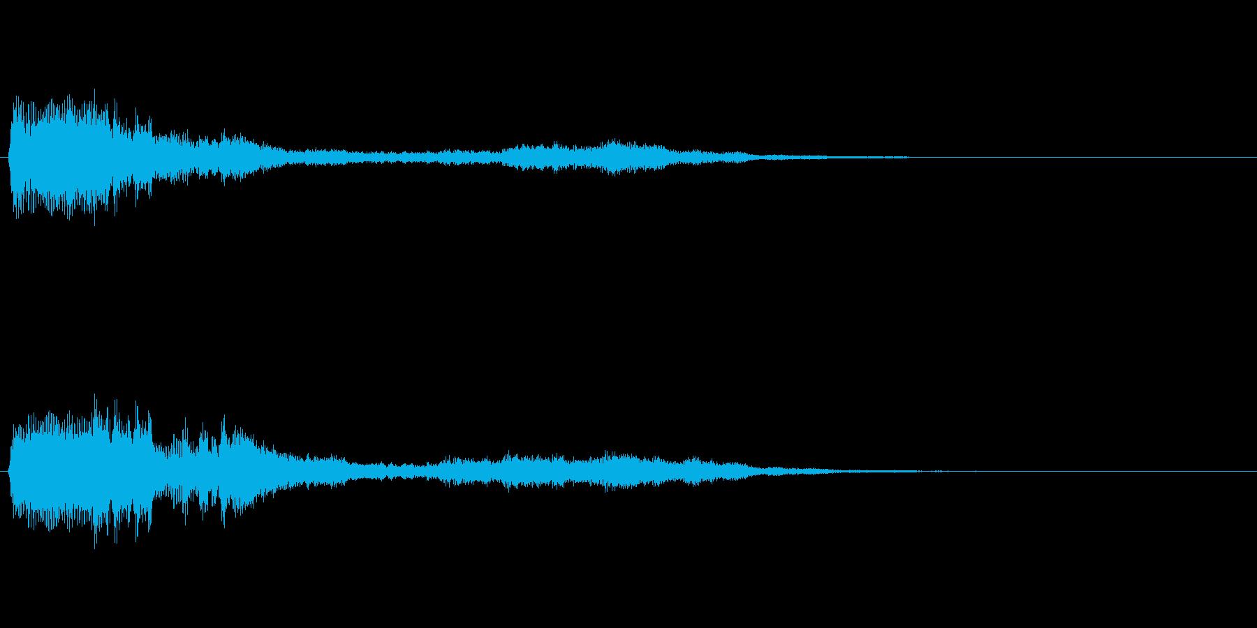 不気味な効果音【ひょおおお/ひゅーん】の再生済みの波形